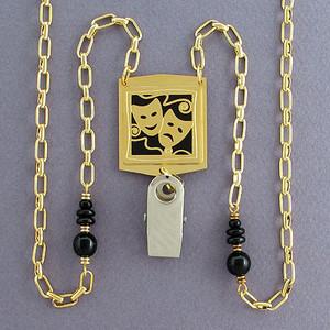Drama Masks Beaded Lanyard Necklaces or Glasses Holders