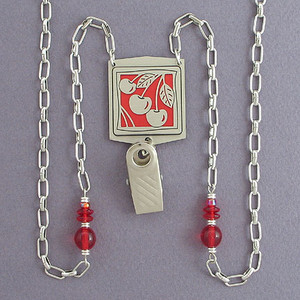 Cherry ID Holder Necklaces or Glasses Chains