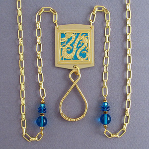 Serpent Beaded Necklace ID Holder or Glasses Chain