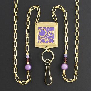 Abstract Circle Lanyard Card Holder or Eyeglasses Necklace