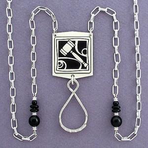 Gavel ID Badge Lanyard Necklaces or Eyeglasses Chains