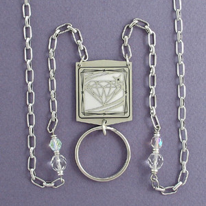 Diamond Design Beaded Badge Necklaces or Glasses Chains