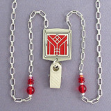 Arts & Crafts Style Badge Holder Necklaces or Glasses Chains