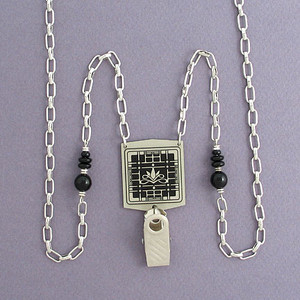 Lotus Flower ID Badge Necklaces or Eyeglass Holder Chains