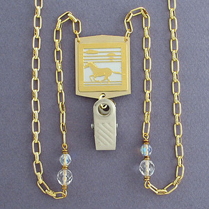 Wild Horse Badge Holder Necklace or Glasses Chain