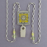 Sun Badge Holder Necklaces or Eyeglasses Chains
