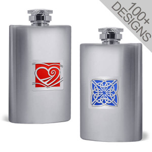 Custom Flasks in Decorative Designs 4 Oz