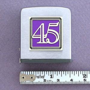 Number 45 Symbol Tape Measure