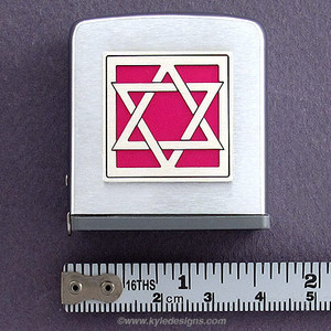 Jewish Star of David Tape Measure