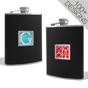 Cool Black Leather Liquor Flasks
