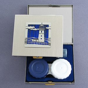 Lighthouse Contact Lens Travel Case