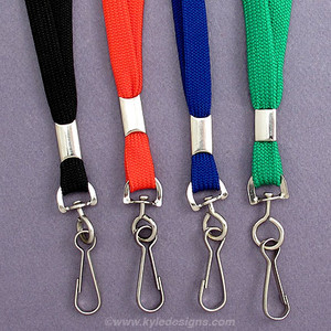 Woven Badge Lanyards with Swivel Hook