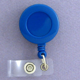 Blue Retractable ID Name Badge Holders