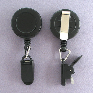 Clamp End Retractable Name Badge Holder Reels