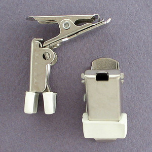 Clip-On Name Badge Card Clamps for Holding ID Badges