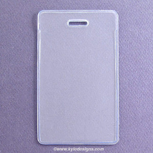 Clear Vinyl Flexible Top Load Vertical Proximity Badge Holders