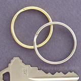 1.25'' Round Split Key Ring Loops