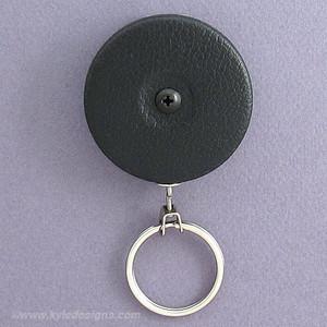 Black Front Key-Bak Heavy Duty Steel Chain Retractable Key Reels