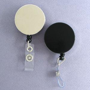 Metal Case Retractable ID Badge Holders or Key Reels