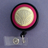 Pink Lotus Badge Holder