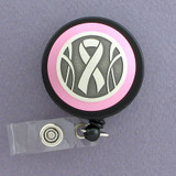 Unique Pink Ribbon Badge Reel for Breast Cancer Awareness