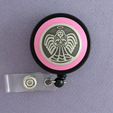 Pink Angel Badge Reel