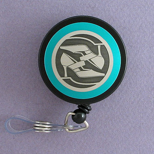 Blue High Heel Shoe Badge Reel - Fashion Themed