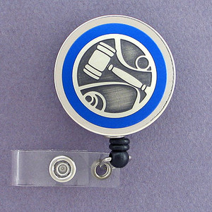 Blue Gavel Badge Reel for a Judge