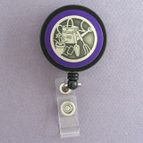Purple Gardener Badge Reel for Garden Show
