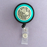 Blue Candy Shop Badge Reel
