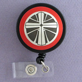 Christian Badge Reel with Cross