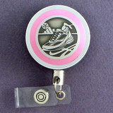 Pink Athletic Show Badge Reel