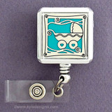 Blue Baby Pram Badge Reel for Delivery Nurse