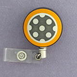 Yellow Polka Dot Badge Reel