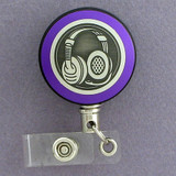 Purple Headset Badge Reel