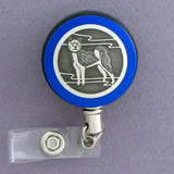 Blue Husky Dog Badge Reel