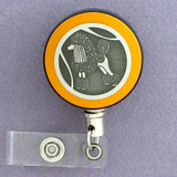 Yellow Poodle Badge Reel