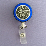 Blue Star Badge Reel