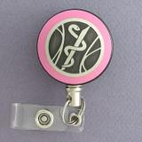 Pink Medical Emblem Badge Reel