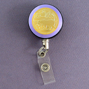 Purple Polar Bear Badge Reel