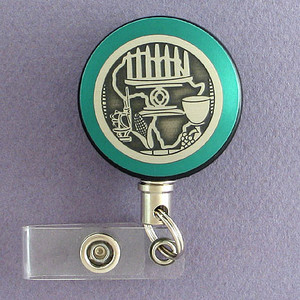 Green Kwanzaa Badge Reel