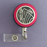 Pink Saxophone Badge Reel