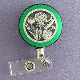 Green Veggies Badge Reel for Nutritionist