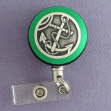 Green Anchor Badge Reel