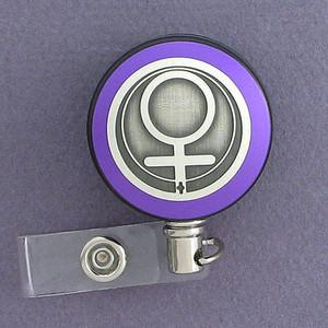 Purple Female Gender Sign Badge Reel