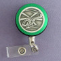 Green Helicopter Badge Reel for Heli Tour Guides