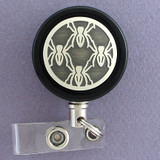 Black Spider Badge Reel