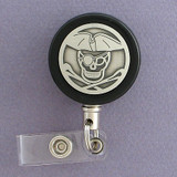 Black Pirate Badge Holder Reel
