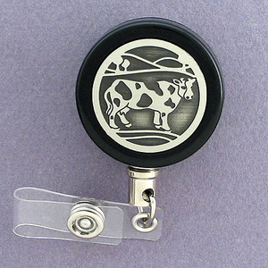Black Cow Badge Reel for the Fair