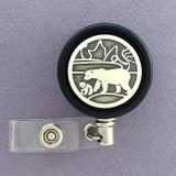 Unique Polar Bear Badge Reel